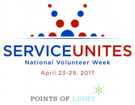 National Volunteer Week April 23-28, 2017