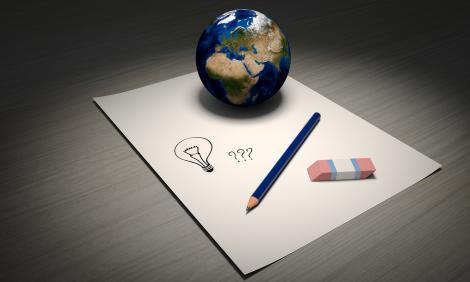 Explore, experiment, brainstorming, ideastorming - paper, pencil