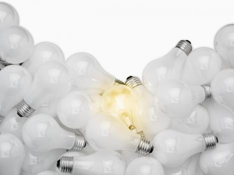 light bulbs with one lit - new ideas