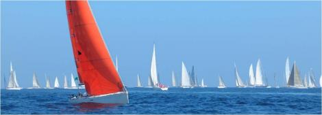 Sailing along - boat leads the race