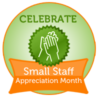 small staff appreciation month logo