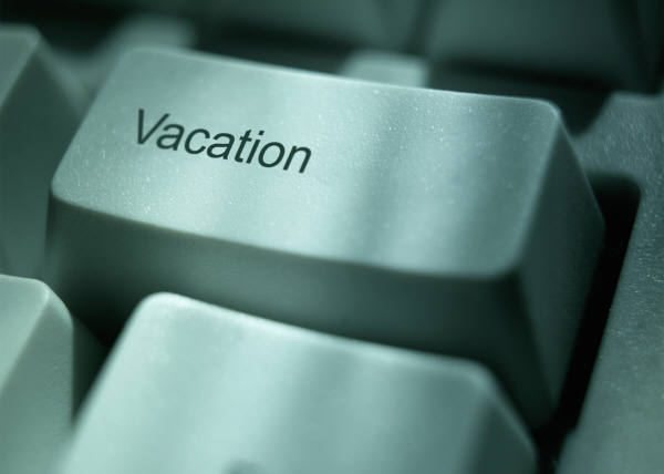 keyboard button for vacation